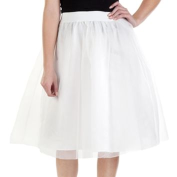 Soprano Juniors Tulle Party Midi Skirt at Von Maur