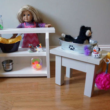 Pet Shop, Wash Stand, and Bed for American Girl & 18-inch Dolls