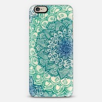 Emerald Doodle iPhone 6 case by Micklyn Le Feuvre | Casetify