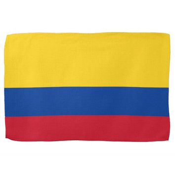 Kitchen towel with Flag of Colombia