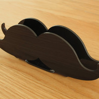 Mustache, Napkin Holder, Groomsmen Gift, Housewarming Gift, Hipster Housewares, Black, Tableware,  Australia, 123team