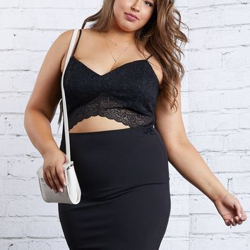 Plus Size Kailyn Open Front Dress
