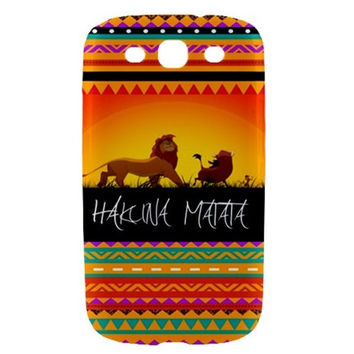 The Lion King Hakuna Matata Aztech Samsung Galaxy S3 III Hardshell Case Cover