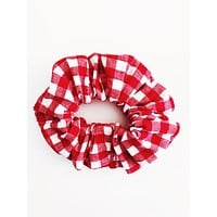Small Scrunchie, Red Gingham
