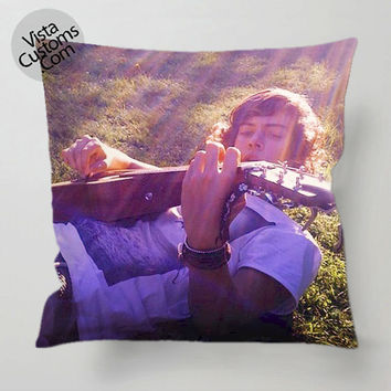Boyfriend guitar harry styles pillow case, cover ( 1 or 2 Side Print With Size 16, 18, 20, 26, 30, 36 inch )
