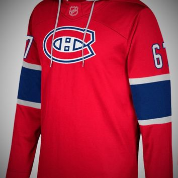Montreal Canadians Adidas NHL Hockey Jersey Style Hoodie