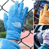 Unisex The North Face Fleece Cycling Sports Touchable Gloves