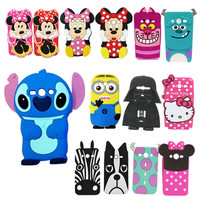 Cute 3D Cartoon Soft Silicone Sully Dog Back Covers For Samsung Galaxy Core Prime LTE SM G360 G361 G360H G360F Cell Phone Cases