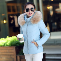 Women Winter Fashion Long Sleeve Padded Down Coat with Hat [8348811841]