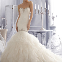 Mori Lee 2685 Strapless Ruffle Mermaid Wedding Dress