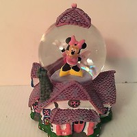 NEW DISNEY Parks Minnie Mouse House Snow Globe