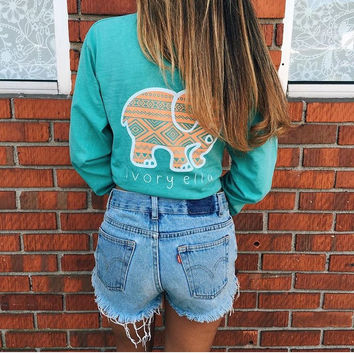 Pocketed Seafoam Aztec Print