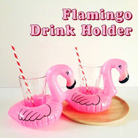 1 PC Mini Cute Pink Flamingo Drink Holder