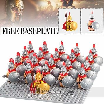 WM1013 Medieval Knights XH647 Rome Commander Hero of Sparta With Cape Bricks 21pcs/lot Building Blocks Children Gifts Toys