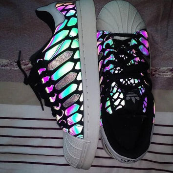 """ADIDAS"" Fashion Chameleon Reflective Sneakers Sport Shoes"