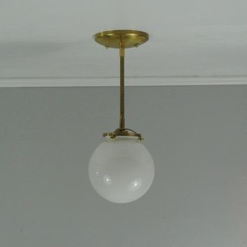 Petite Glass Globe Pendant Light