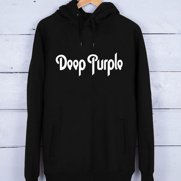 Deep Purple Premium Fleece Hoodie for Men and Women Unisex Adults