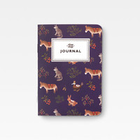 Mini Farm Animals Notebook - Purple -
