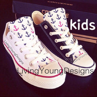 KIDS ANCHOR Custom Converse Low Top Sneakers Chuck Taylors