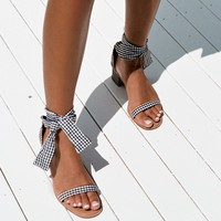 Gingham Block Heels - Shoes by Sabo Skirt