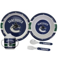 Vancouver Canucks 5-Piece First Time Fan Baby Dinner Set