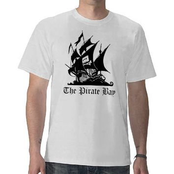 The Pirate Bay  T-Shirt White from Zazzle.com