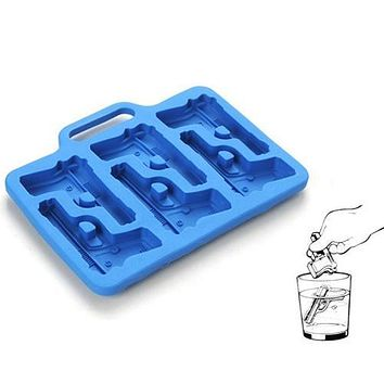 Pistol Ice Mold Silicone Mold Cooking Tools Cookie Cutter Ice Molds Cream Mould Ice Cream Tools Ice Cube Tray