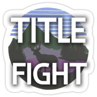 "Title Fight ""The Last Thing You Forget"" Sticker"