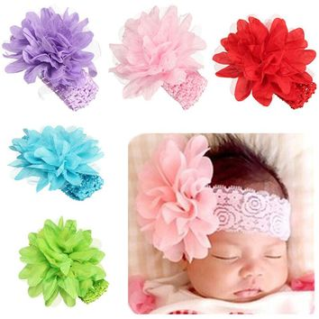 Flower Bow Cute Baby Girl Child Infant Toddler Head Wraps Bandana Headband