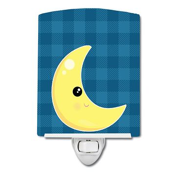 Weather Moon Face Ceramic Night Light BB7156CNL
