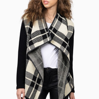 Plaid Habit Knit Cardigan
