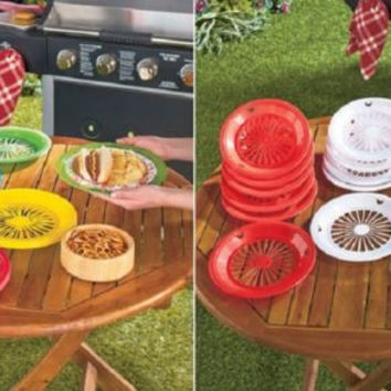 Paper Plate Holders 16 Pc Set Camping Picnics Grill Outs Parties Durable