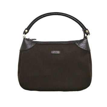 ESBON3F Gucci Brown Canvas Hobo Shoulder Bag Guccissima Leather Handbag 279154
