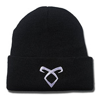 ZZZB Shadowhunters TV Show 2015 Logo Beanie Fashion Unisex Embroidery Beanies Skullies Knitted Hats Skull Caps