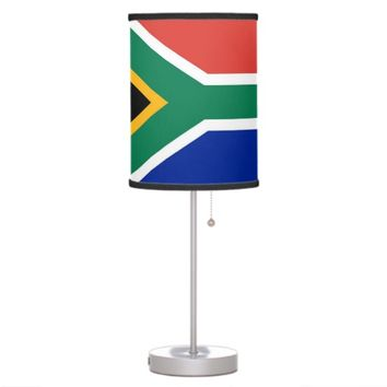 Patriotic table lamp with Flag of South Africa