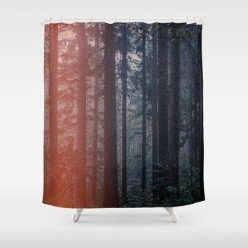 Mystic Woods Shower Curtain by aljahorvat