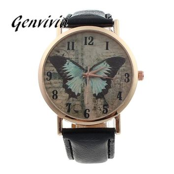 Ladies Butterfly Analog Quartz Watch