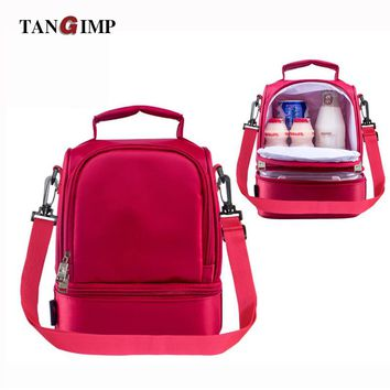TANGIMP 2017 Cooler Bags 8L Thermal for Lunch Ice Pack Picnic Storage Bags 600D Oxford PVC Folding Insulation Women Men Food Bag