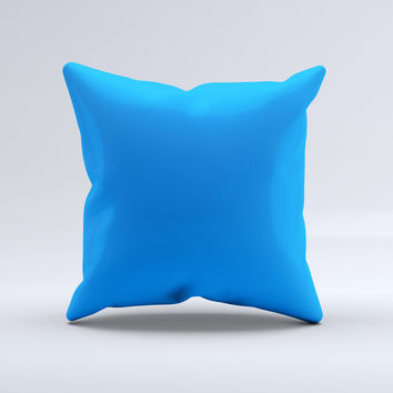 Solid Blue  Ink-Fuzed Decorative Throw Pillow