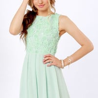 TFNC Sarah Mint Green Lace Dress
