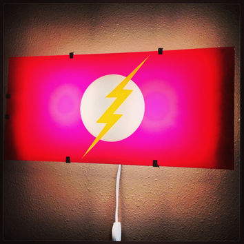 The flash, Flash Gordon, superhero, wall decal, boys room decor, superhero decal, wall art, wall sticker, by Otrengraving on Etsy