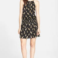 Women's Joie 'Nahal B' Feather Print Silk Dress,