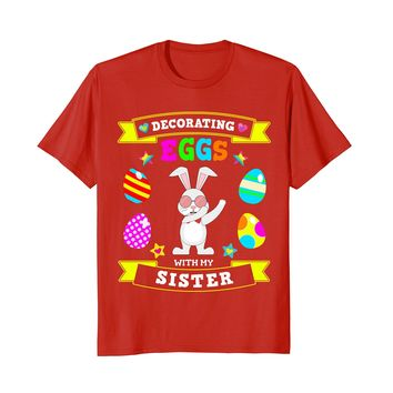 Dabbing Easter Bunny T-Shirt for Brother & Sister Boys Girls