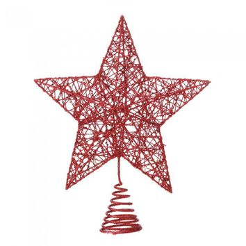 Red Star Christmas Christmas Tree Topper