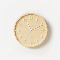 Birch Simple Clock
