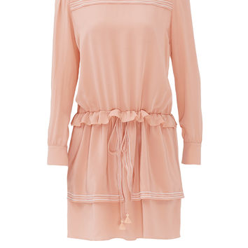 See by Chloe Pink Silk De Chine Dress