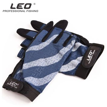 Leo Fishing Glove Winter Carp Fishing Equipment Pesca Ice Outdoor Hunting Gloves Fishing Wear Accessories Men Finger Protector