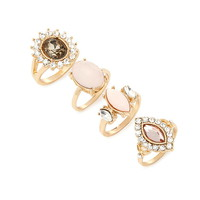 Faux Gem Ring Set | Forever 21 - 1000160532