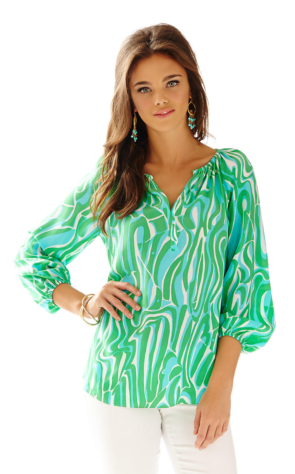 f7f388a7278984 Lilly Pulitzer Sarabeth Silk Top from Lilly Pulitzer