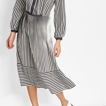 Striped Silk Midi Dress - Marco de Vincenzo | WOMEN | US STYLEBOP.COM